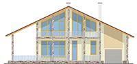 Изображение фасада 1  Проект коттеджа 59-60