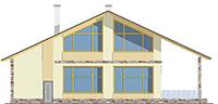 Изображение фасада 3  Проект коттеджа 59-60