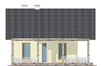 Изображение фасада 4  Проект коттеджа 59-60