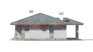 Изображение фасада 1  Проект коттеджа 80-63