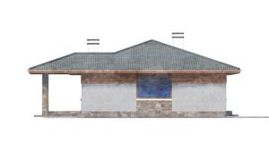 Изображение фасада 2  Проект коттеджа 80-63
