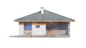 Изображение фасада 3  Проект коттеджа 80-63