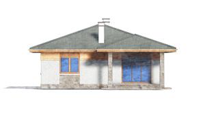 Изображение фасада 4  Проект коттеджа 80-63