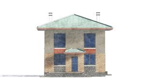 Изображение фасада 4  Проект коттеджа 49-39