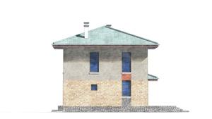 Изображение фасада 1  Проект коттеджа 80-59