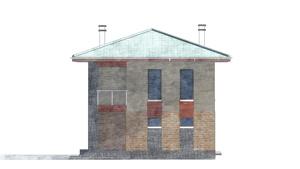 Изображение фасада 3  Проект коттеджа 80-59