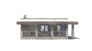Изображение фасада 2  Проект коттеджа 48-74