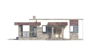 Изображение фасада 3  Проект коттеджа 48-74