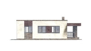 Изображение фасада 4  Проект коттеджа 48-74