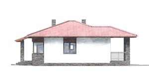 Изображение фасада 1  Проект коттеджа 48-67