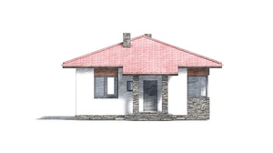 Изображение фасада 3  Проект коттеджа 48-67