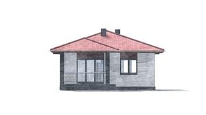 Изображение фасада 4  Проект коттеджа 48-67