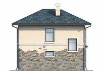 Изображение фасада 3  Проект коттеджа 73-23