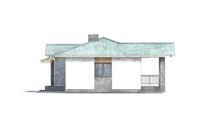 Изображение фасада 3  Проект коттеджа 69-93