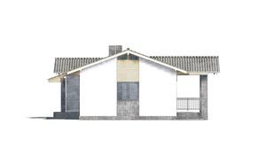 Изображение фасада 3  Проект коттеджа 48-93