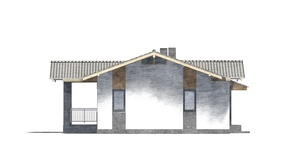Изображение фасада 4  Проект коттеджа 48-93