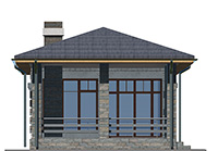 Изображение фасада 2  Проект коттеджа 43-61