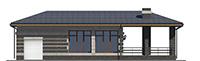Изображение фасада 3  Проект коттеджа 43-61