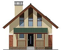Изображение фасада 1  Проект коттеджа 43-33