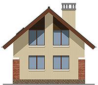 Изображение фасада 3  Проект коттеджа 43-33