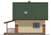 Изображение фасада 4  Проект коттеджа 43-33
