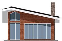 Изображение фасада 4  Проект коттеджа 42-40