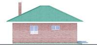 Изображение фасада 4  Проект коттеджа 90-06