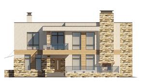 Изображение фасада 2  Проект коттеджа 48-63