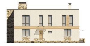 Изображение фасада 4  Проект коттеджа 48-63