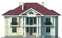 Изображение фасада 1  Проект коттеджа 47-09