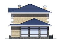 Изображение фасада 3  Проект коттеджа 39-82