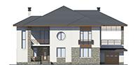 Изображение фасада 1  Проект коттеджа 39-76