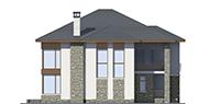 Изображение фасада 3  Проект коттеджа 39-76