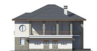 Изображение фасада 4  Проект коттеджа 39-76