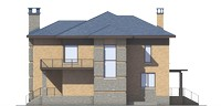 Изображение фасада 3  Проект коттеджа 39-33