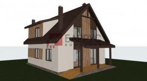 Проект дома с мансардой 8,5x8,9 метров, общей площадью 145 м2, из газобетона, 3 спальни