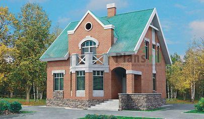 Проект дома с мансардой 10x10 метров, общей площадью 135 м2, из газобетона (пеноблоков), c котельной