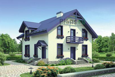 Проект дома с мансардой 10x10 метров, общей площадью 149 м2, из газобетона (пеноблоков), c котельной и кухней-столовой