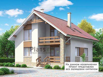 Проект дома с мансардой 10x11 метров, общей площадью 162 м2, из газобетона (пеноблоков), c террасой, котельной и кухней-столовой