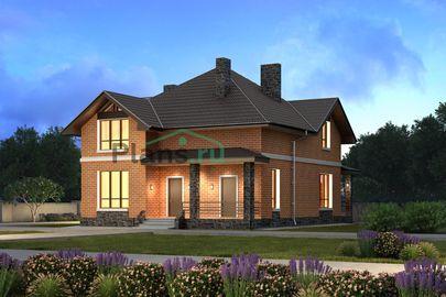 Проект дома с мансардой 10x12 метров, общей площадью 173 м2, из газобетона (пеноблоков), c террасой, котельной и кухней-столовой