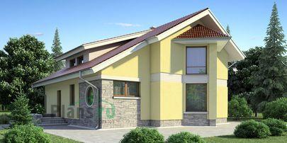Проект дома с мансардой 10x13 метров, общей площадью 146 м2, из кирпича, со вторым светом, c котельной