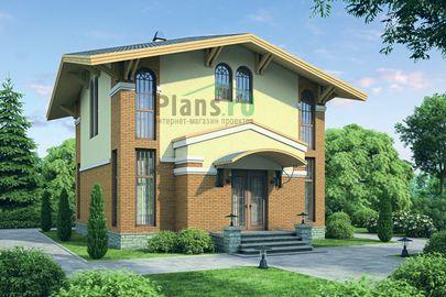 Проект дома с мансардой 10x8 метров, общей площадью 122 м2, из газобетона (пеноблоков), c кухней-столовой