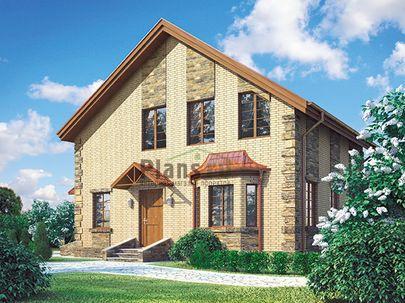 Проект дома с мансардой 10x9 метров, общей площадью 119 м2, из газобетона (пеноблоков), c котельной и кухней-столовой