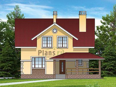 Проект дома с мансардой 10x9 метров, общей площадью 147 м2, из газобетона (пеноблоков), c террасой, котельной и кухней-столовой