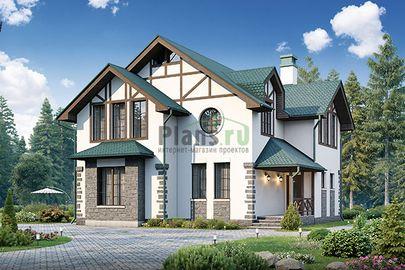 Проект дома с мансардой 11x10 метров, общей площадью 151 м2, из керамических блоков, c котельной