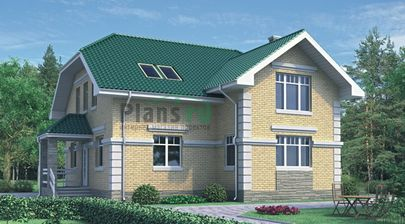 Проект дома с мансардой 11x10 метров, общей площадью 159 м2, из керамических блоков, c котельной