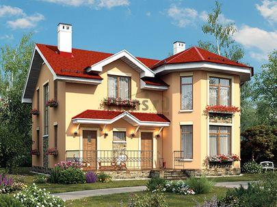 Проект дома с мансардой 11x11 метров, общей площадью 177 м2, из газобетона (пеноблоков), c террасой, котельной и кухней-столовой