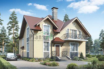 Проект дома с мансардой 11x11 метров, общей площадью 192 м2, из керамических блоков, c котельной и кухней-столовой