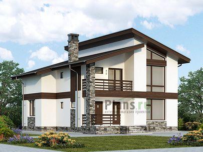 Проект дома с мансардой 11x14 метров, общей площадью 151 м2, из газобетона (пеноблоков), c террасой, котельной и кухней-столовой