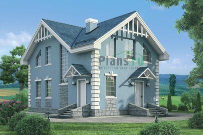 Проект дома с мансардой 11x8 метров, общей площадью 114 м2, из керамических блоков, c котельной и кухней-столовой